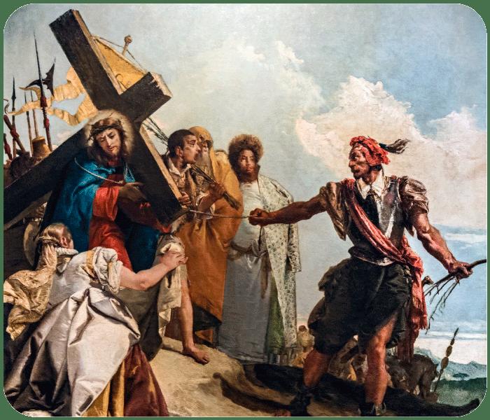Sexta Estação - Verônica Limpa o Rosto de Jesus