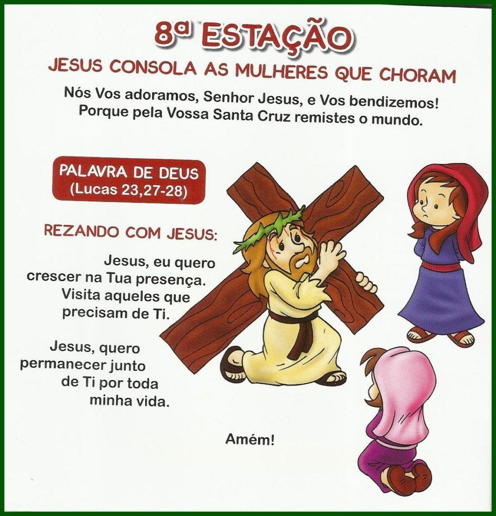 Via Sacra Infantil - 8ª Estação: Jesus consola as mulheres que choram