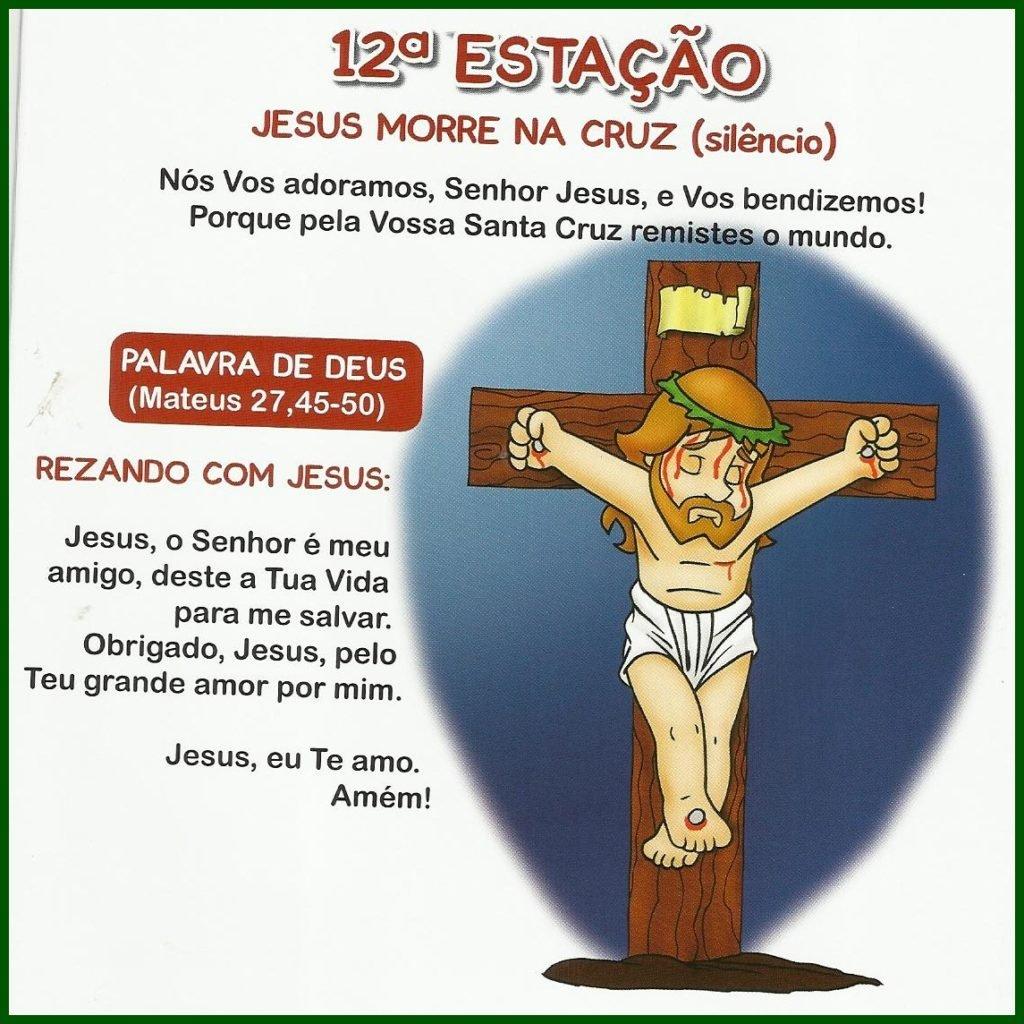 Via Sacra Infantil - 12ª Estação: Jesus morre na cruz (silêncio)